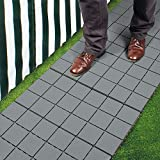 Pack Of 12 Grey Patio Pavers