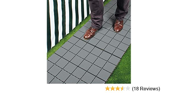dc9ad3a95 Pack of 12 Grey Patio Pavers  Amazon.co.uk  Garden   Outdoors