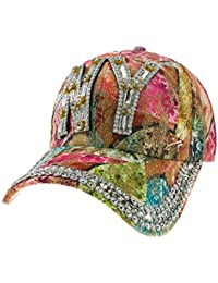 Romens Ltd Mujer Gorros para el Sol Sport Gorras De Béisbol Crystals  Sombreros y Gorras Cap a5f66e452fe