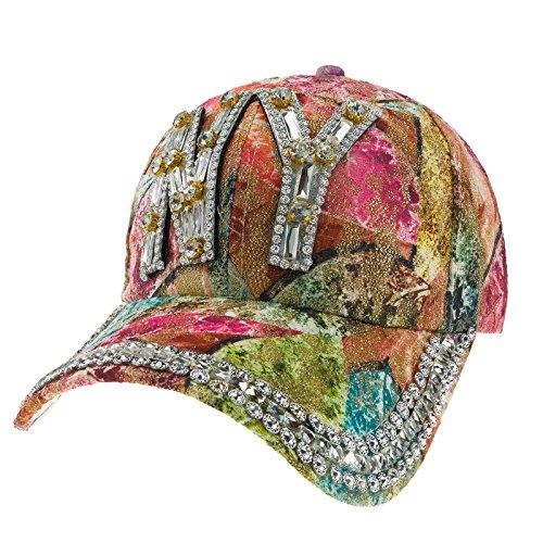 Imagen de romens ltd mujer gorros para el sol sport  de béisbol multicolor crystals sombreros y  cap hat ny