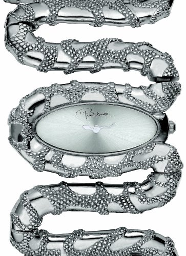 Roberto Cavalli Ladies Cleopatra Analogue Watch R7253195515 with Silver Dial and Stainless Steel Case