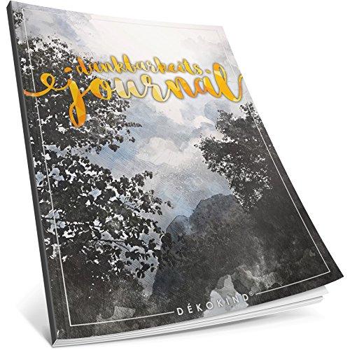 Dékokind® Dankbarkeits-Journal: Ca. A4-Format • Für 365 Tage, Vintage Softcover • Ein Tagebuch für mehr Bewusstsein, Achtsamkeit & Glück im Leben • ArtNr. 46 Aquarell Wald • Ideal als Geschenk