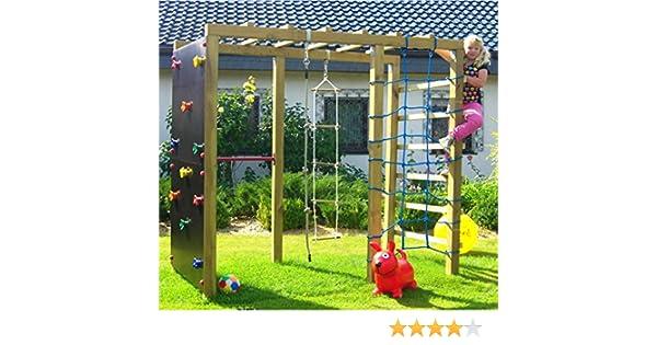 Klettergerüst Reckstange : Xxl klettergerüst m kletterturm mit kletternetz reckstange