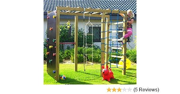 Klettergerüst Reck : Xxl klettergerüst 2 4m kletterturm mit kletternetz reckstange