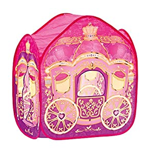 Bino Europe- Carpa, carroza para Princesas, Color Rosa (82814)