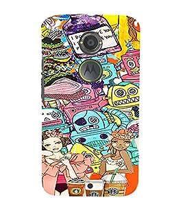 ifasho Designer Phone Back Case Cover Motorola Moto X2 :: Motorola Moto X (2nd Gen) ( Stud Vector cool Boy )