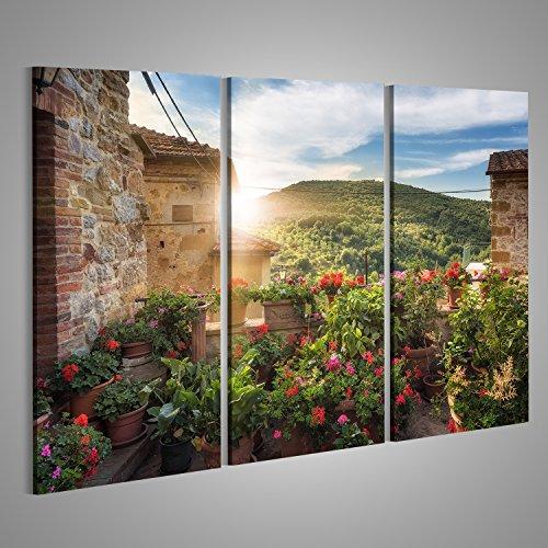 Bild Bilder auf Leinwand Gassen, Straßen und Ritzen in der schönen Stadt in der Toskana, Petroio Italien. Verschiedene Formate ! Direkt vom Hersteller ! Bilder ! Wandbild Poster Leinwandbilder ! HGD (Bild Der Stadt)