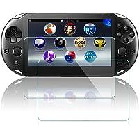 Films de Protection d'Ecran pour Sony PlayStation Vita 2000, AFUNTA Lot de 2 Pièces Waterproof Protecteur pour PS Vita PSV 2000 en Verre Trempé Optique
