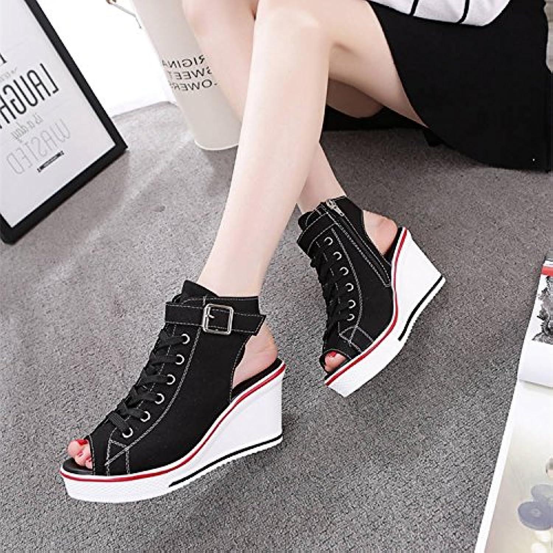 GTVERNH-Women'Shoes/Zapatillas Mujer/Zapatos En Verano El Espesor De La Parte Inferior Muffin Boca De Pescado...