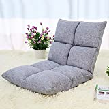 Sitzsäcke Boden Lazy Man Stuhl Sofa Video Gaming Stuhl Voll Einstellbare Sechs-Position Multiangle (Farbe : Gray)