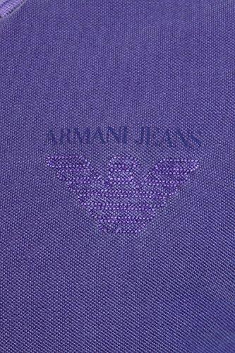 Armani Jeans Herren Gewaschene Pique Polo-Shirt Rosa Violett