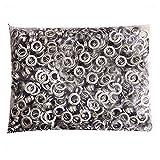 Pinty 1000gommini + 1000rondelle–Finitura in nichel–# 2size, 3/20,3cm occhielli