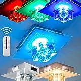 Wandlampe mit Farbwechsler LED lila, rot, blau, hellblau, grün, hellgrün, violett - inklusive Fernbedienung