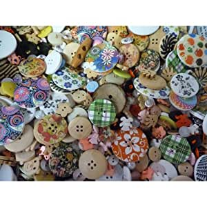 Pack of Random MIxed Assorted Buttons, approx 75g