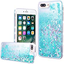 "WE LOVE CASE iPhone 7 Plus / 8 Plus Cover Glitter Transparente Quicksand Liquido Diamante Amore Stella iPhone 7 Plus / 8 Plus 5,5"" Custodia Verde Case Hard con TPU Silicone Backcover , Rigida Bumper Elegant Belle Protettiva Protezione , Antiurto Ultraslim Coperture , Girl Brillantini Donna Case perApple iPhone 7 Plus / 8 Plus 5,5"""