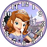 Wall Clock 3D Princess Sofia Wall Clock Watch Vintage Analogue Movement Wall Clock Without Glass For Home / Kitchen / Living Room / Bedroom / Office Designer Wall Clock /Retro Vintage Hand Made 3D Wall Clock / Antique Clock Decorative