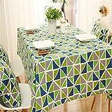 Tischdecke,Tischtuch,Table Cloth vereinfacht und verdickt polyester baumwolle segeltuch umgekehrten dreiecks geometrischem design rechteckige tisch tischdecke grün,140x200cm