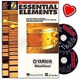 Essential Elements Band 2 für Schlagzeug - Reihe Essential Elements German Translations - Die komplette Methode für den Musikunterricht mit 2 CDs und bunter herzförmiger Notenklammer