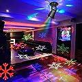 CroLED Wasserdicht LED Schneeflocke Projektor Weihnachtsbeleuchtung Gartenleuchte Outdoor Gartenstrahler Outdoor Weihnachten Landschaftslampe Spotlicht Dekoration