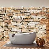 Fototapete Stein - ALLE STEINMOTIVE auf einen Blick ! Vlies PREMIUM PLUS - 350x245 cm - SAND STONE WALL - Steinwand Steine Wand - no. 163