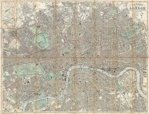 london-city-map-beacon-travelers-pocket-map-1890-small-archival-matte-black-frame