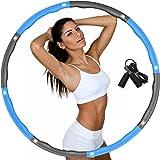 DUTISON Hula Hoop Reifen für Erwachsene, Fitness Hoola Hoop zur Gewichtsreduktion Größe Einstellbar Breit 48–95 cm beschwerte