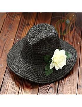 estate femminile cappello da sole mare Vacanza Protezione solare nastro fiori spiaggia cappello cappello di paglia...