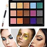 Palette di Ombretti Makeup Kit Make Up Professionale, TOFAR 15 Colori glitter luminoso Basi per Ombretto Cosmetici ombretto tavolozza High Pigment Cosmetics pallet ombretto con pennello - #2