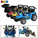 Actionbikes Kinder Elektrobagger in Gelb mit 2 x 25 Watt Motoren Elektro Bagger Kinderauto Kinderfahrzeug (Blau)