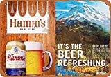 CDecor Hamm's Beer and Mount Ranier Blechschilder, Metall