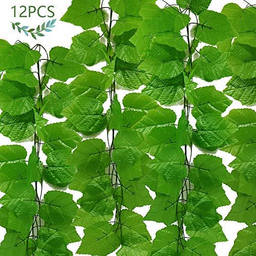JUSTIDEA 12pcs Enredadera Artificial Plantas Plastico