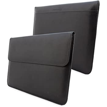 Snugg™ MacBook 12 Case - Leather Sleeve with Lifetime Guarantee (Black) for Apple MacBook 12 with Retina