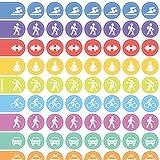 Adesivi organizer per agenda settimanale, da parete e taccuini con icone per ogni occasione Sport u. Transport