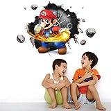 VAINECHAY Super Mario Muurschilderingen Sticker Muurschilderingen Decal Muurstickers voor Slaapkamers Woonkamer Kindertuin Sc