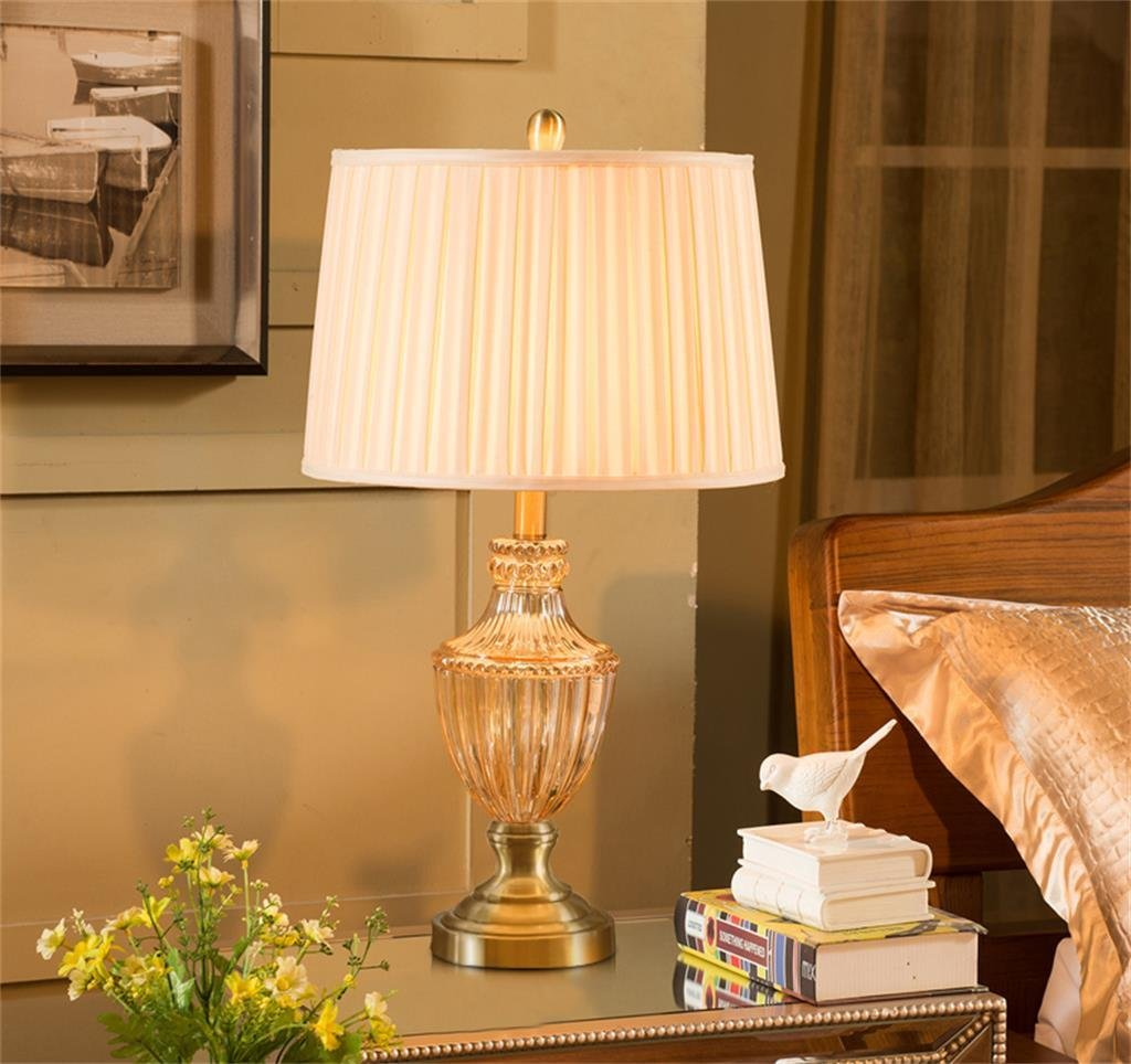 Schlafzimmer amerikanischer stil  TOYM UK-Im europäischen Stil Tischlampe Schlafzimmer ...