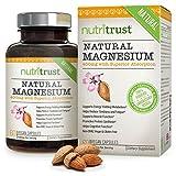 NutriTrust Natürliches Magnesium - Leicht zu schluckendes, medizinisch erprobtes, hochwirksames, bioaktives, reines Magnesium - Allergenfrei, vollkommen vegan und GVO-frei