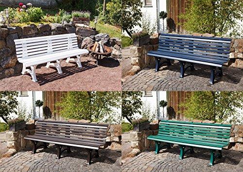 Parkbank Borkum weiß Blome 4-Sitzer - 3