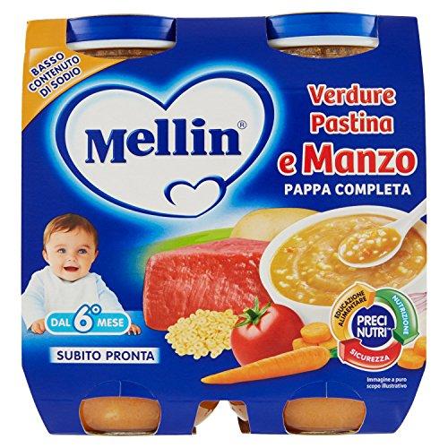Mellin pappa completa verdure pastina e manzo - 500 g