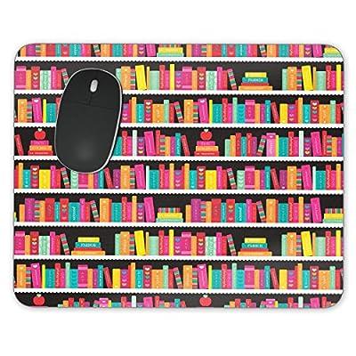 Biblioteca libro caso Mousepad–neopreno para ópticas y ratón láser, rosso, Rectangle Mousepad