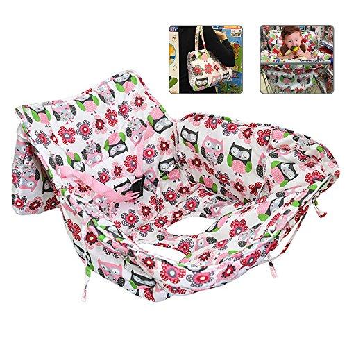 Aolvo Baby Shopping Cart Cover, 2en 1Housse de chaise haute qualité et Dipper Sac fourre-tout Bactéricide-fongicide lavable en germe de polyester/Coque/No étrangère Effet Collant/téléphone et jouet compartiments, sans BPA