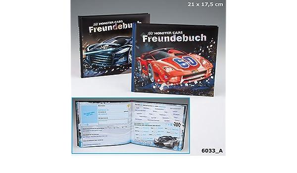 Monster Cars Freundebuch Freundealbum Auto Rot Geburtstagskalender