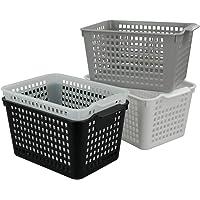 Annkky Organiser Un Panier en Plastique, 4-Paquet Panier de Rangement