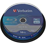 Verbatim BD-R Single Layer 6 -fache Brenngeschwindigkeit, Printable Surface Scratchguard Plus, 10 Stück