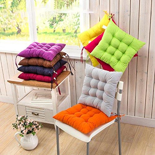 Cojín para silla de interior y exterior, mimbre macizo, cojines para silla de cocina, jardín, comedor, 35 x 34 cm,...