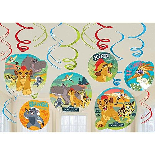 2 teiliges Swirlgirlanden Set - Disney Junior Partyzubehör Girlandenset