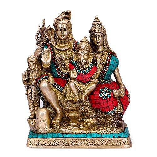 CraftVatika Dios hindú Shiva Familia Estatua Shiva