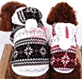 Pet Cat Dog Hooded Snowflake Fleece Coat Jacket Winter Coat Small Dog Clothes XS S M L XL