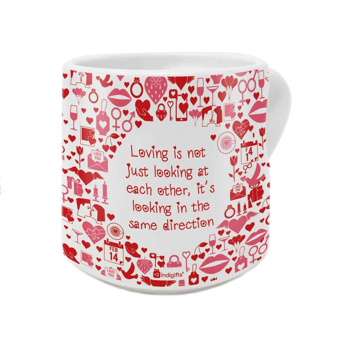 Indigifts Valentine Day Gift Love Is Looking In The Same Direction