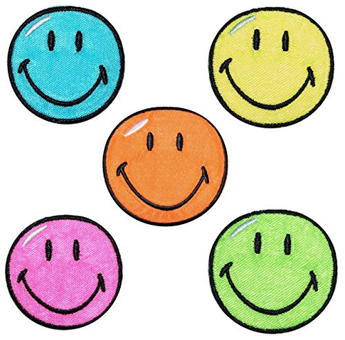 2-tlg-set-bugelbilder-smiley-38-cm-38-cm-aufnaher-gewebter-flicken-applikation-gesichter-smile-emoti