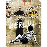 Cartel de Chapa 15x20 -Berlin Street Art